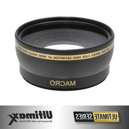 58mm 0.43x HD Wide Angle Lens For Video & Still Cameras W/ 5