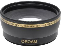 58mm 0.43x HD Wide Angle Lens For DSLR Cameras & Video W/ 58