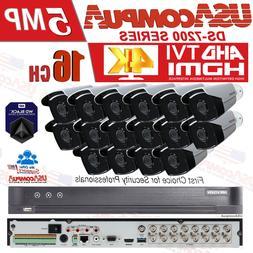 HIKVISION 5MP SECURITY SYSTEM 4K CCTV 16CH HD BULLET CAMERA