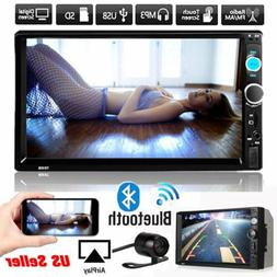 "7"" Double 2DIN Car MP5MP3 Player Bluetooth Touch Screen Ster"