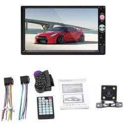 "7"" Car MP5 Player With 4LED Cameras 7023B Bluetooth FM HD US"
