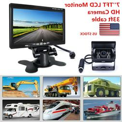 7''LCD HD Monitor  Car Rear View 2 Cameras for Truck Bus Sys