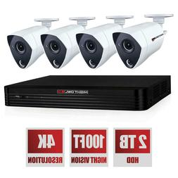 Night Owl 8-Ch 4K DVR Surveillance System 2TB HD & 4K Indoor