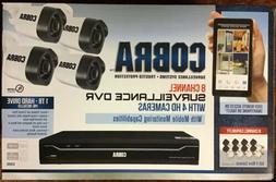 Cobra 8 Channel Surveillance System DVR & 4 HD Cameras 63890