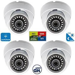 Evertech 4 Pcs 800TVL Weather Proof Dome 24 IR Wide Angle Le