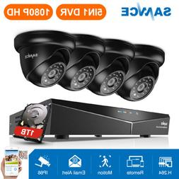 SANNCE 8CH 1080N CCTV DVR 720P HD In/Outdoor Security Camera