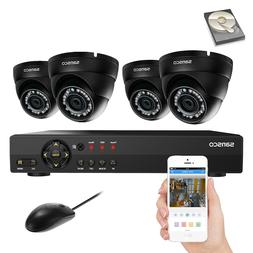 8CH 1080N DVR CCTV Security Camera System+4x 720P HD Dome Wa