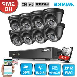 ANNKE 8CH 1080P Lite DVR 2MP HD CCTV Smart Outdoor Security