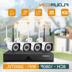 8CH /4CH 1080P HD DVR + CCTV Cameras Wireless/Wired Home Sec