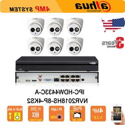 Dahua 8CH 8 POE 4K Kit H.265 NVR 4MP HD POE Night IR 50m IP