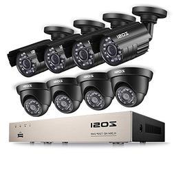 ZOSI 8CH Security Camera System Full 1080P HD-TVI Video DVR