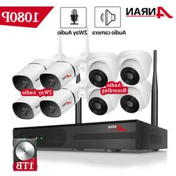 ANRAN 8CH CCTV Wireless Security Camera System Home With 1TB
