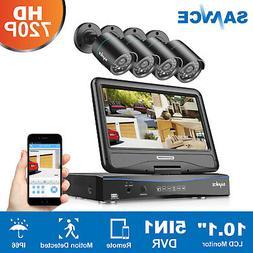 SANNCE 8CH 1080N HD 10 inch Monitor DVR 1500TVL IR CCTV Secu