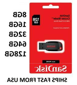 Sandisk 8GB 16GB 32GB 64GB 128GB Cruzer Blade Flash Drive Me