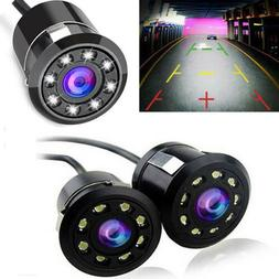 8LED Car Backup Rear View Reverse Parking HD Camera Night Vi