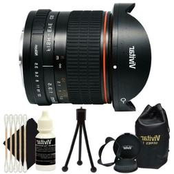 Vivitar 8mm f/3.5 HD Aspherical Fisheye Lens for Nikon SLR C