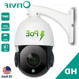 Built-in POE PTZ IP Camera 5MP HD 2592x1944 Pan/Tilt 30x Zoo