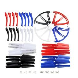 Coolplay 4 Colors Main Blade Propellers & Protectors Frame &