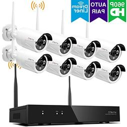 xmartO 8 Channel 960p HD Wireless security Camera System wi