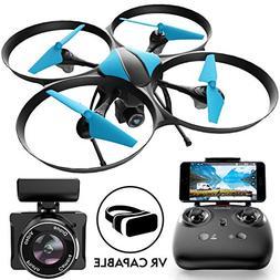 Force1 U49W Blue Heron Drone with Camera Live Video Photogra