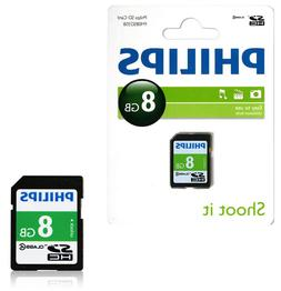 GENUINE PHILIPS 8GB SD SDHC HD MEMORY CARD CLASS 4 DIGITAL C