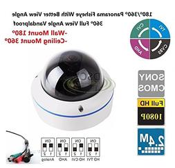 High Quality Full View 180/360 Degree Fisheye 2.0MP Panorami