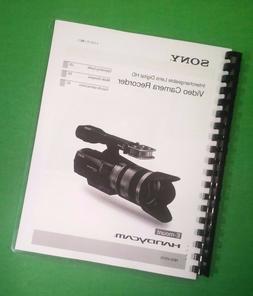 "LASER 8.5X11"" Sony NEX VG10 Digital HD Camera 161 Page Owner"