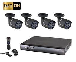 LaView 4 Channel 1080P/720P HD DVR Surveillance System with