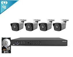 LaView 8 Channel 1080p Home Security System with 4 1080p Bul