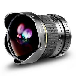 Neewer Pro 8mm f/3.5 Manual Focus HD Fisheye Lens for Canon