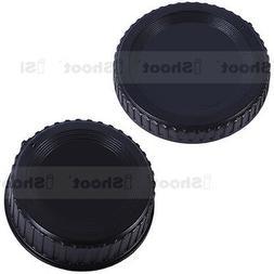 Rear lens cover ✚ camera body cap for Nikon D7000 D2X D2H