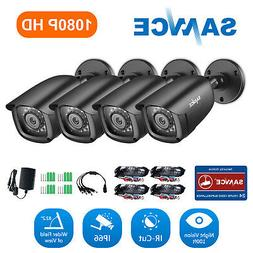 SANNCE 4X HD 1080P Indoor Outdoor Security CCTV Cameras IR-C