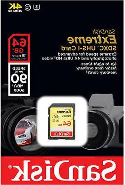 SanDisk Extreme 64GB SDXC UHS-I Card
