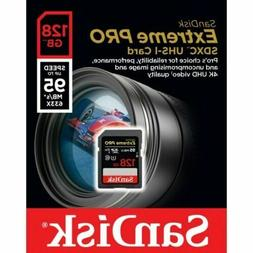 SanDisk Extreme PRO 128GB up to 95MB/s UHS-I/U3 SDXC Flash M