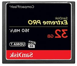 SanDisk Extreme PRO 32GB CompactFlash Memory Card UDMA 7 Spe