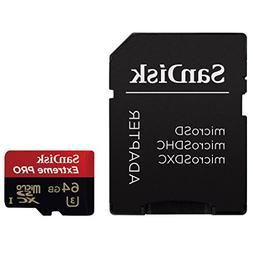 SanDisk Extreme PRO 64GB UHS-I/U3 Micro SDXC Memory Card Spe