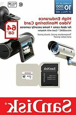 SanDisk High Endurance Video Monitoring Card with Adapter 64