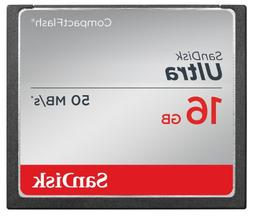 SanDisk Ultra 16GB Compact Flash Memory Card Speed Up To 50M