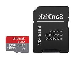 SanDisk Ultra 16GB Ultra Micro SDHC UHS-I/Class 10 Card with