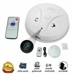 Wireless HD 1080P Spy Smoke Detector Hidden Camera Motion De