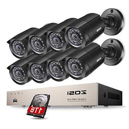 ZOSI 8-Channel 4-in-1 HD-TVI 1080N/720P Video Security Syste
