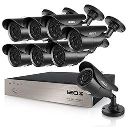 ZOSI 8-Channel HD-TVI 1080N Video Security System with 8x 12