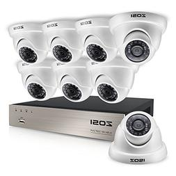 ZOSI 8CH HD-TVI 1080N Video Security System w/8 x 1.0MP Outd