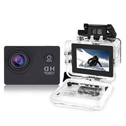 YUNTAB Sport Action DV Camera, HD 1080P 2.0 inch, 5MP, 120°