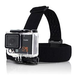 Action Camera Head Strap/belt Harness Mount + Aluminum Thumb
