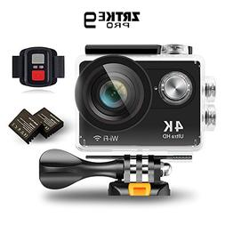 Sports Action Camera , ZRTKE 4K Ultra HD WIFI Waterproof Cam