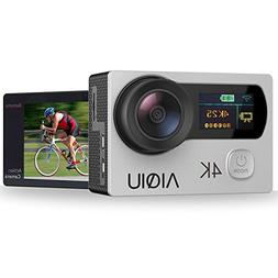 Sports & Action Video Cameras AIQIU 4K WIFI Dual Screen Wate