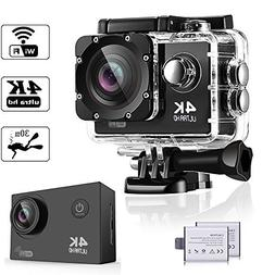 WeyTy WT100 Action Camera, 4K Ultra HD Waterproof Camcorder