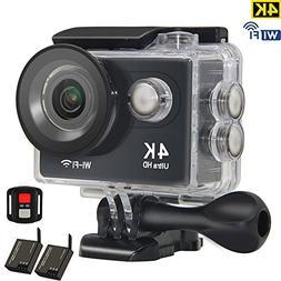 Kids Camera 4K Sports Action Camera WiFi Waterproof 30M Unde