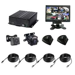 4 Channel AHD 720P H.264 HDD Vehicle Surveillance Camera Sys